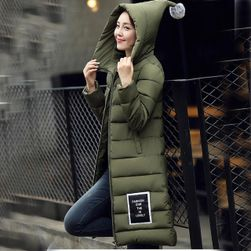 Dugačka zimska jakna Oriana - 6 boja army Zelená-L