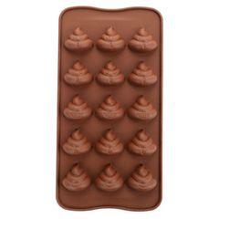 Forma silikonowa na lód lub czekoladę - emitikona gówienko
