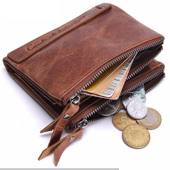 Pánská peněženka s dvěma zipovými kapsami - 2 barvy 1