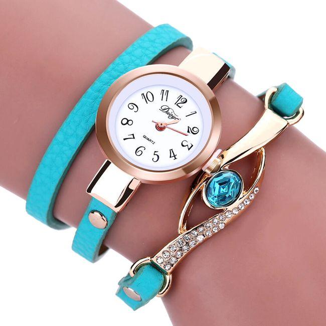 Dámské vícevrstvé hodinky s ozdobnými kamínky 1