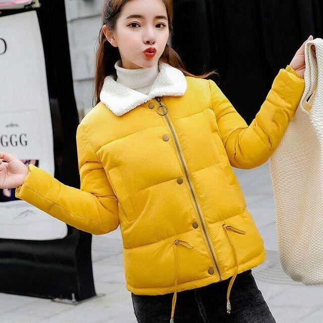Dámská zimní bunda Lenore s límcem z umělého kožíšku 1