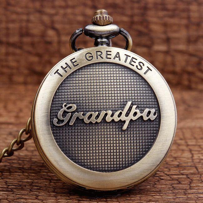 Vintage kapesní hodinky pro nejlepšího dědečka 1