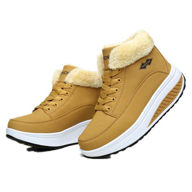 Barviti zimski čevlji Elenora z višjim podplatom 1