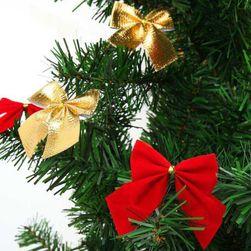 Karácsonyi dekoratív masni - 12 darab