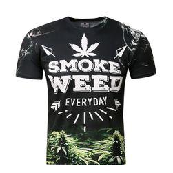 Tričko s krátkým rukávem a 3D potiskem - Smoke weed everyday