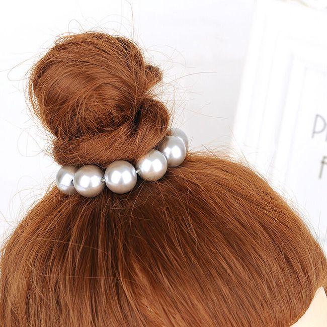 Perlová gumička do vlasů - 5 barev 1