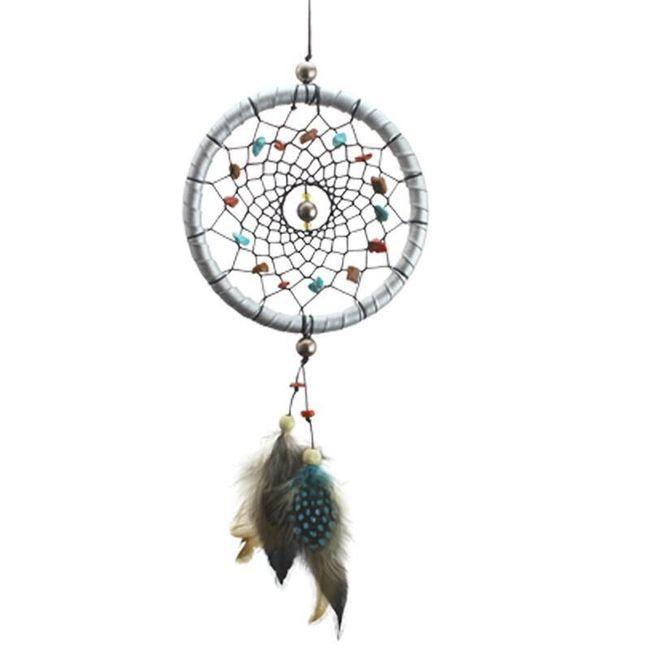 Lapač snů s kamínky a peříčky 1
