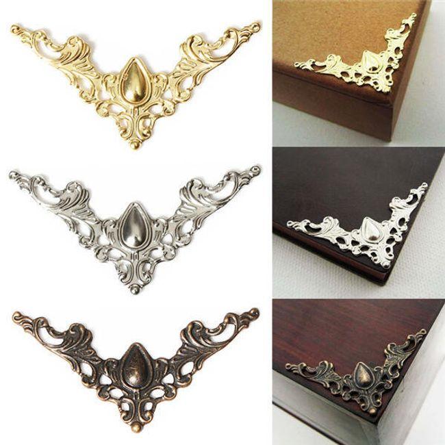Mücevher kutuları veya kitaplar için 12 köşe dekorasyon 1