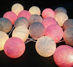 LED lánc színes golyókkal
