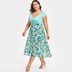 Ženska plus size haljina sa dužom suknjom