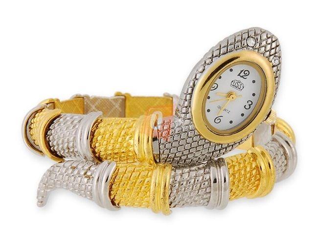 Hadí hodinky - stříbrnozlatá barva 1