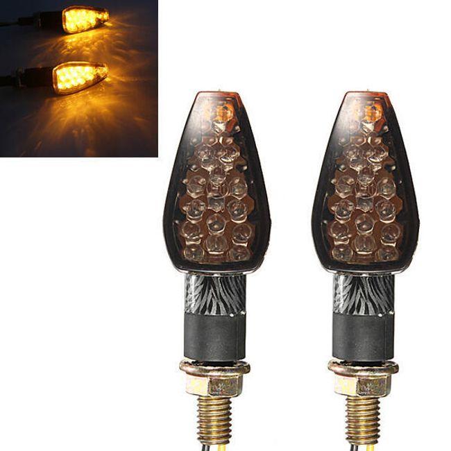10 LED блинкри за мотоциклет - 2 цвята 1