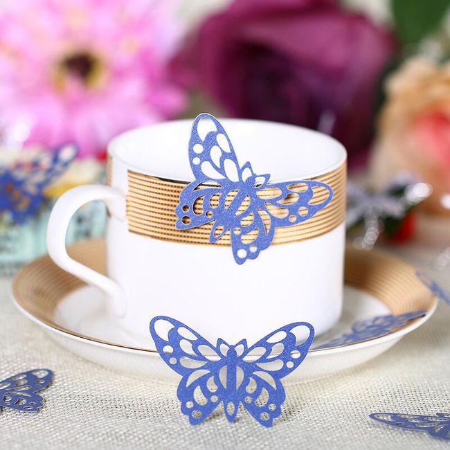 50 kusů papírových dekoračních motýlků 1