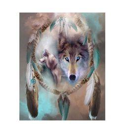 Crtanje po brojevima - hvatač snova sa vukovima