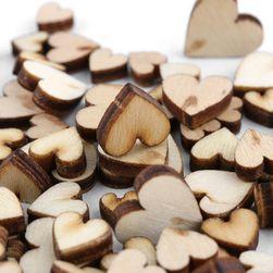 Деревянные сердечки- 100 шт.