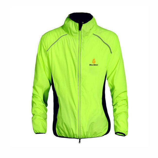 Pánská cyklistická bunda s reflexními prvky - Zelená, velikost 3 1