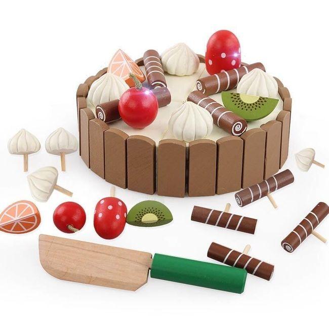 Dřevěný skládací dort Matilda 1