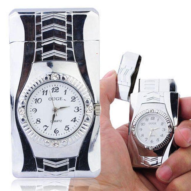 Originální zapalovač s hodinkami 1