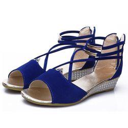 Dámské sandály na klínku - různé barvy