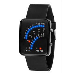 Pánske binárne hodinky so silikónovým pásikom - 2 farby