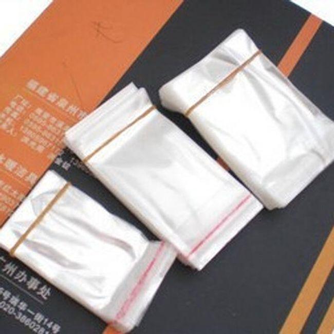 Zamykane przeźroczyste torebki na biżuterię - 100 sztuk 1