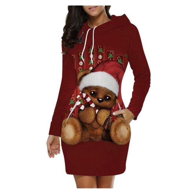 Damska sukienka bożonarodzeniowa Iren 1