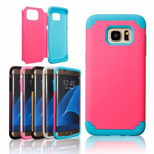 Dvojni silikonski ovitek za Samsung Galaxy S7 1