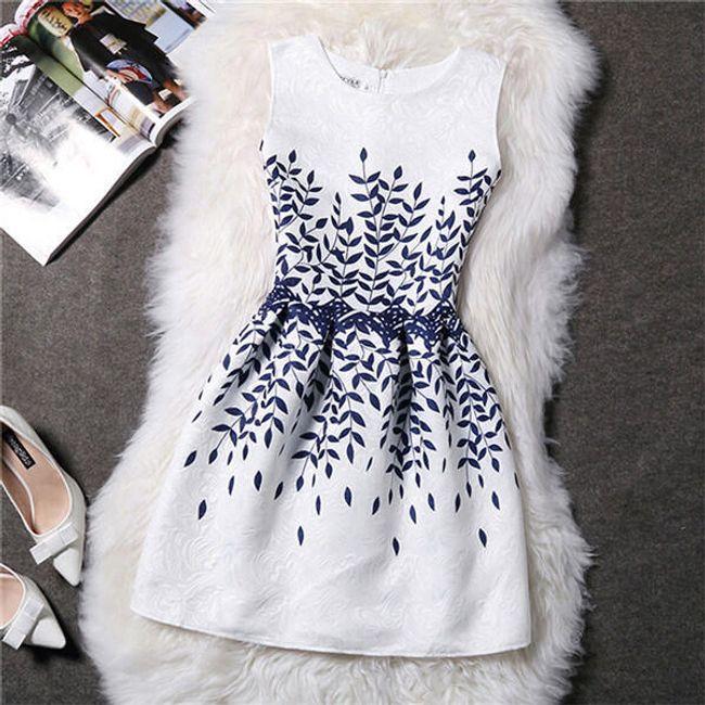 Letní šaty nad kolena - Varianta 12 -velikost č. 4 1