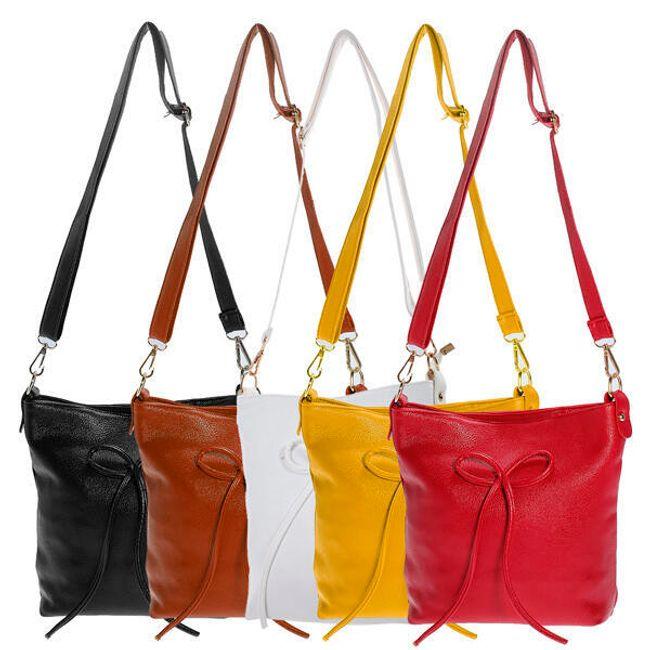 Taška přes rameno zdobená mašličkou - v 5 barvách 1