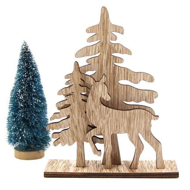 Vánoční dřevěná dekorace - 5 variant 1
