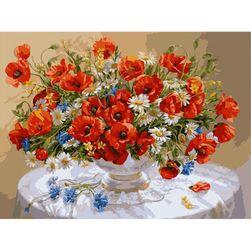 DIY slika - buket cveća