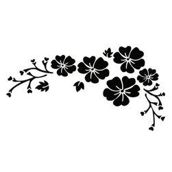 Květinová samolepka na vůz