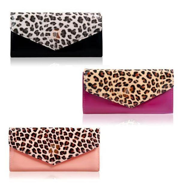 Dámská peněženka s leopardím vzorem ve 3 barvách 1