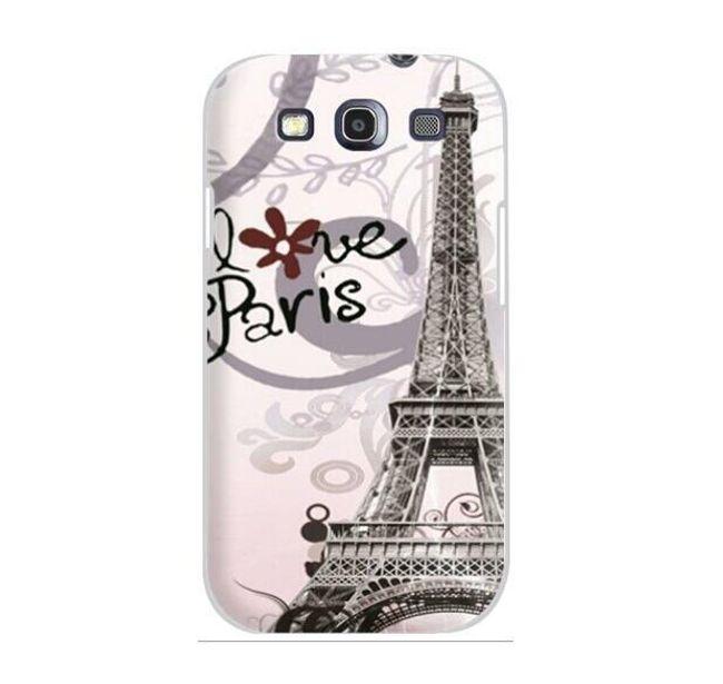 Etui ochronne z wieżą Eiffela na Samsung Galaxy S3/I9300 1