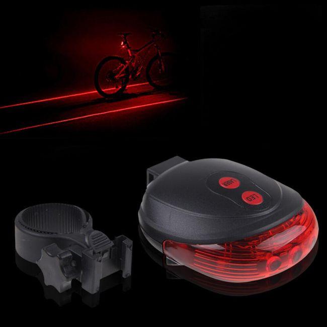 Laserska kolesarska zadnja luč 1