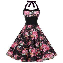 Vintage šaty s áčkovou sukní - 4 varianty, 5 velikostí