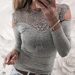 Elegantna bluza sa čipkom i dugačkim rukavima