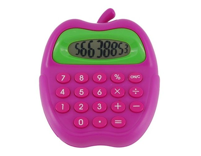 Barevná kalkulačka ve tvaru jablka 1