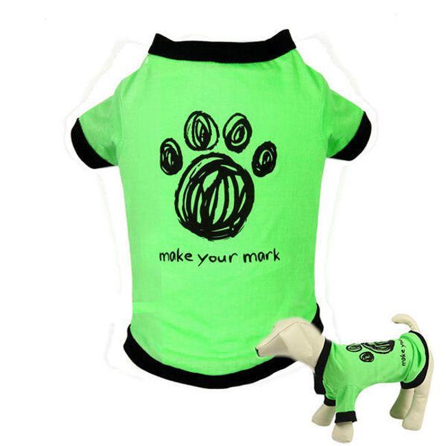 Зеленая футболка для собак 1