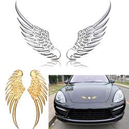 3d nalepnica na automobilu - krila