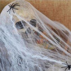 Haloween dekoracija - svetleća paučina sa paukovima