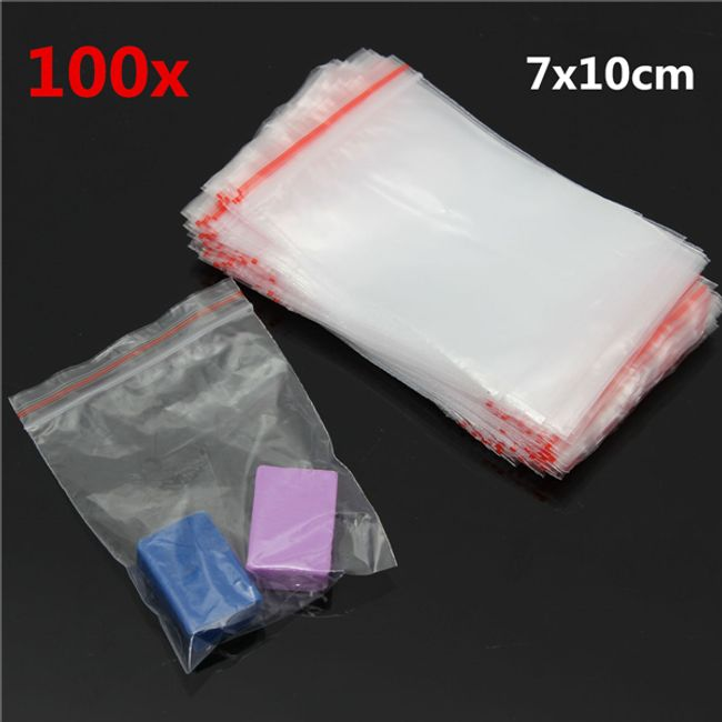 100 kosov vrečk  7x10 cm 1