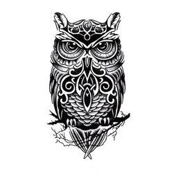 Privremena tetovaža - sova
