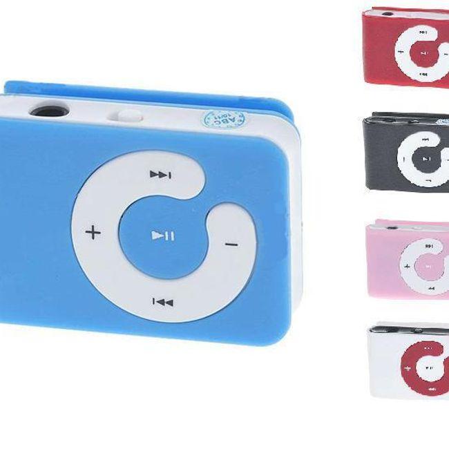 Mini MP3 přehrávač s klipem na microSD karty - 5 barev 1