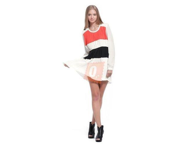 Dámské letní šaty s dlouhým rukávem v bílé barvě - vel. L 1