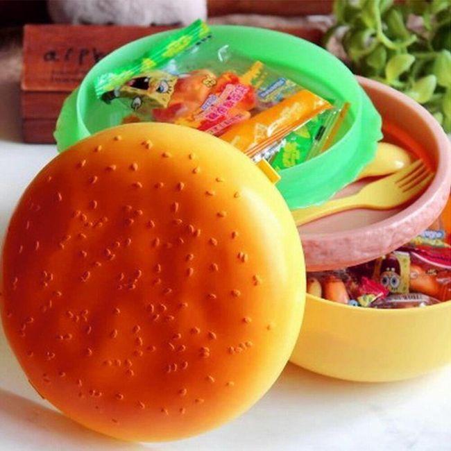 Krabička na jídlo ve tvaru hamburgeru 1