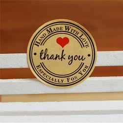 Наклейки для поздравительных открыток - Thank you