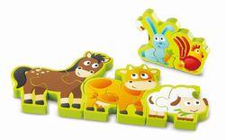 Hape - Puzzle - Zvířátka a číslice 10 dílků RZ_027039