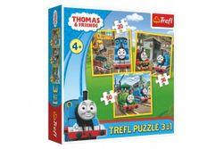 Puzzle 3v1 Mašinka Tomáš/Tomáš jde do akce 20x19,5cm v krabici 28x28x6cm RM_89134821