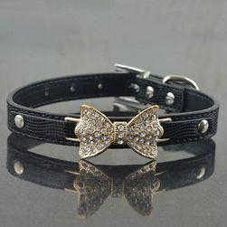 Dražesna ogrlica za pse sa mašnicom - mix boja